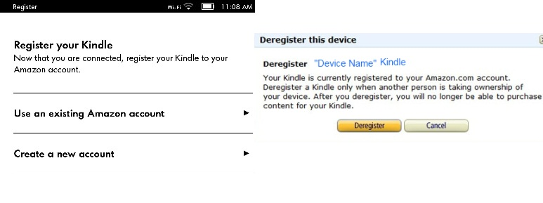 Register Amazon Kindle Device
