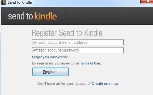 "SEND TO KINDLE"" FOR PC"